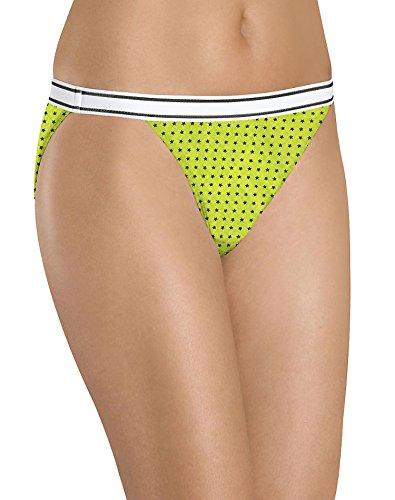 Hanes Women's 6 Pack Cotton Sporty String Bikini, Assorted, 6