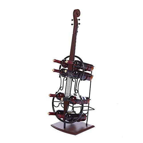 CESULIS Estante de vino de hierro para 10 botellas de vino de pie para el suelo alto, soporte para botellas de vino para el hogar, bodega, estante portátil (color negro, tamaño: 33 x 28 x 110 cm)