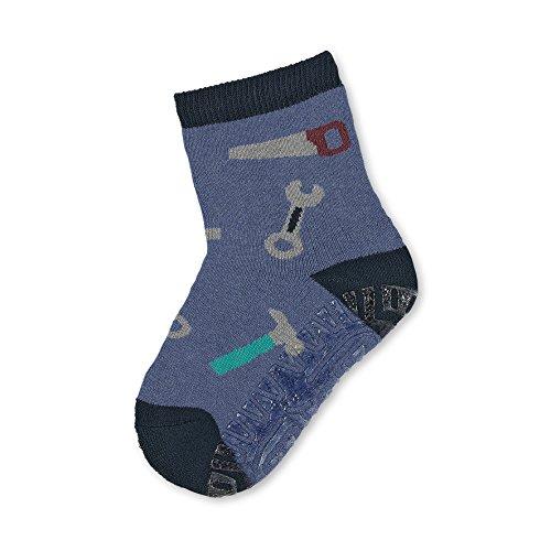 Sterntaler Sterntaler Söckchen, Fliesen Flitzer Soft, Werkzeuge-Motiv, Alter: 6-12 Monate, Schuhgröße: 17-18, Blau (Tintenblau)