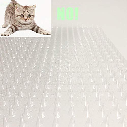 iBoosila Cat Scat Mat Anti-Katzen-Netzwerk Humane Prickle Strip Abwehrmittel, Balkon fernhalten Thorn Pad Wandbehang Net Gartenarbeit und Familienschutz consistent