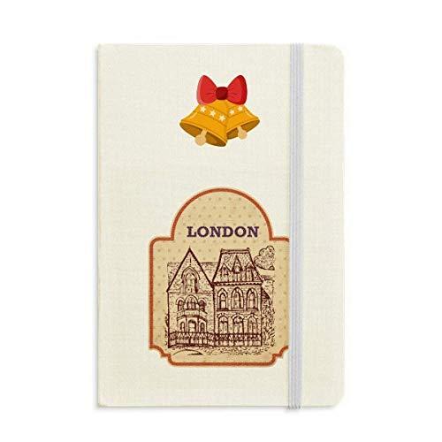 Cuaderno de sellos británicos con diseño de bandera británica, con texto en inglés 'Building Sketch'