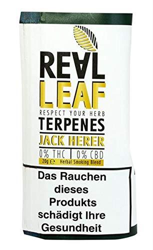 REAL LEAF mit Jack HERER Terpenen Kräutermischung-Tabakersatz, 20g