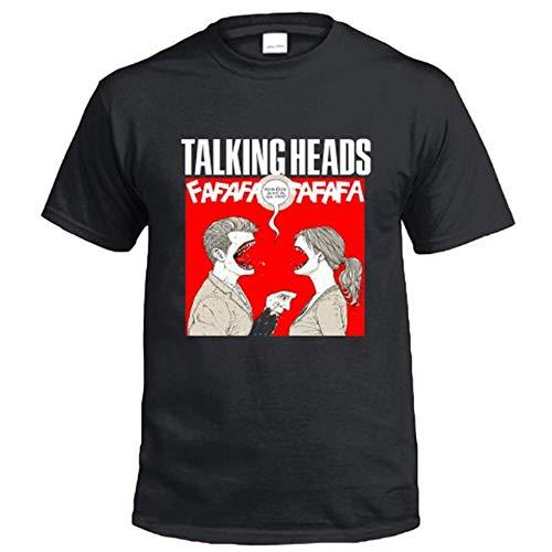 New Talking Heads Logo Men's Black T-Shirt Size S-3XL