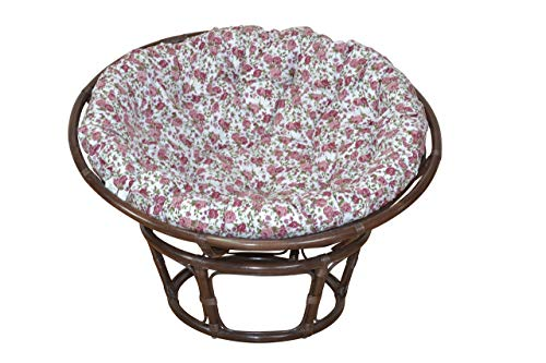 moebel direkt online Papasansessel, Durchmesser 80 cm Sessel mit Kissen braun
