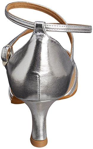 Diamant 035-077-013 Damen Tanzschuhe – Standard & Latein, Silber (Silber), 39.5 EU - 4