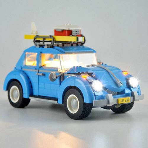 EDCAA Led Beleuchtungsset für (Volkswagen Beetle Building) Bausteine Modell, Beleuchtungsset Kompatibel mit Lego 10252 (Car Bricks Set Nicht enthalten)