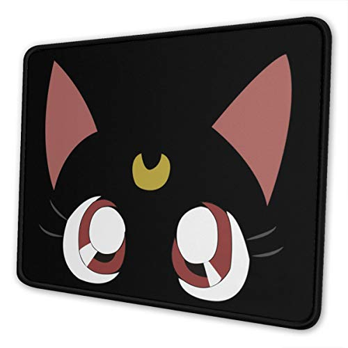 Sailor Luna Moon Mouse Pad Gaming Mouse Pad Anti Slip Rubber Base with Stitched Edge Computer Pc Mousepad for Home Office