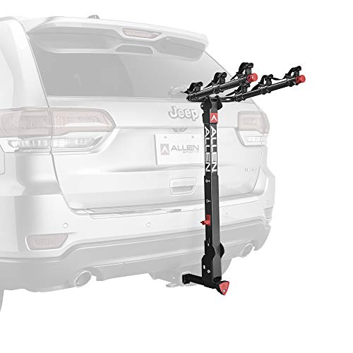 Allen Sports Deluxe+ Locking Quick Release 3-Bike Carrier for 1 1/4 in. and 2 in. Hitch, Model 830QR