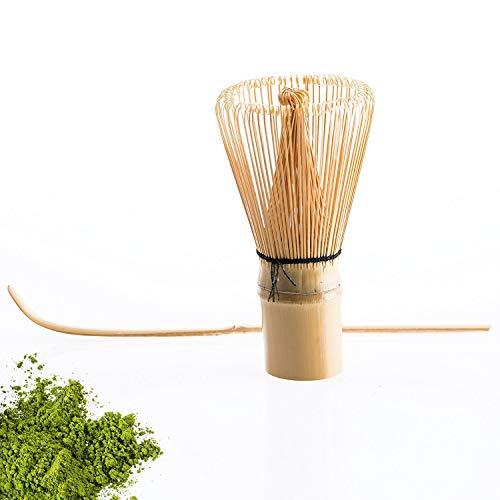 Batidor de te verde de bambu tradicional de Olywee, hecho a mano, 100 puntas esenciales para espumar tu Matcha