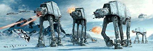 Star Wars Poster at-at Fight Langbahnposter (158 x 53 cm) + Geschenkverpackung. Verschenkfertig!