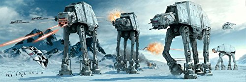 Star Wars Poster at-at Fight Langbahnposter (158x 53 cm) + Geschenkverpackung. Verschenkfertig!