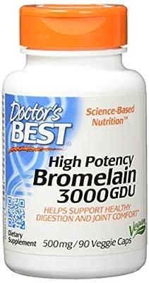 Doctors Best Best 3000 GDU Bromelain, 90 Vcaps