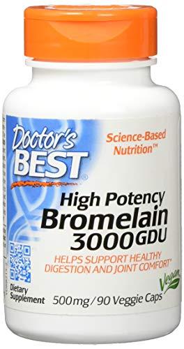 Beste 3000 GDU Bromelain, 500 mg, 90 Veggie Caps - Arzt Besten