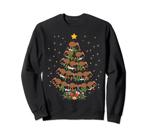 Kiwi 鳥愛好家 クリスマスギフト キウイクリスマスツリー。 トレーナー