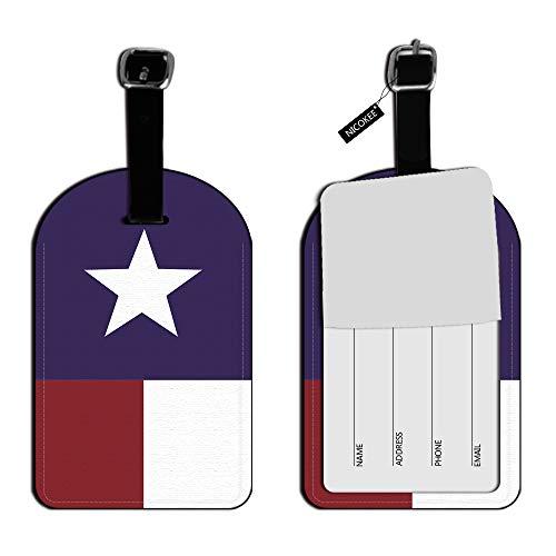 Etiqueta de identificación para Equipaje con la Bandera de Nicokee Texas