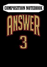 Composition Notebook: ANSWER - Allen Iverson -, Journal 6 x 9, 100 Page Blank Lined Paperback Journal/Notebook