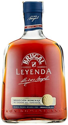 Ron BRUGAL Leyenda 38{b7d662ba65d67869b59eeb5819d1c1c8ee4ff120ee1def54f84f24a13b9b6599} vol, Premium Brauner Rum aus der Dominikanischen Republik, 10 Jahre Lagerung, Flasche 700ml