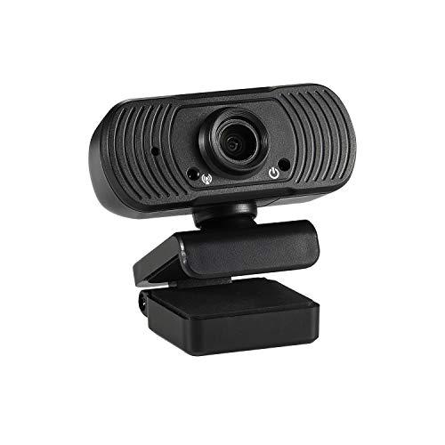HD Webkamera mit Mikrofon Autofokus, 1080P Webcam Computer USB Kamera Plug & Play 25fps, Zoom/Skype/Teams/Online-Klasse, Computer Laptop Videoanruf Aufzeichnungskonferenzen(U242)