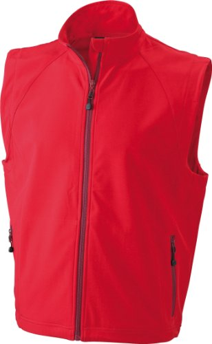 James & Nicholson Herren Jacke Softshellweste rot (red) X-Large