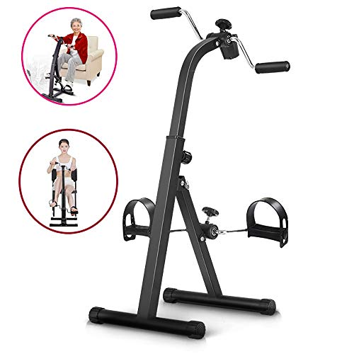LANGYINH Home Exercise Pedal Bike - Exercise Upper Body & Lower Body,Foldable,Durable,with Electronic Display,Best for Elderly Rehabilitation & Fitness