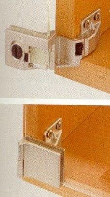 Cerniere per ante in vetro senza foratura vetro in battuta 30866