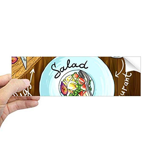 DIYthinker Salade Kaas Vijgen Frankrijk Restaurant Rechthoek Bumper Sticker Notebook Window Decal