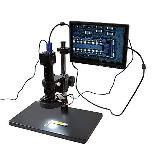 YELLAYBY TBK 10A HD 10~180x Professionelles Mikroskop-Desktop-Mikroskop-Fachmann für IP BGA CPU-Wartung Industrielles Video Natürlichen Beobachtung/Teilprüfung (Color : 110V)