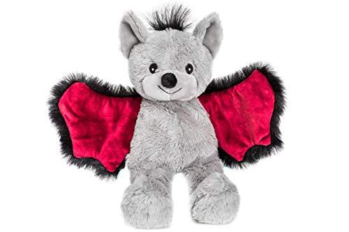 Habibi Plush Premium – 1847 Pipistrello Bat jun., con cuscino a grani estraibili – Cuscino termico per riscaldare nel forno a microonde