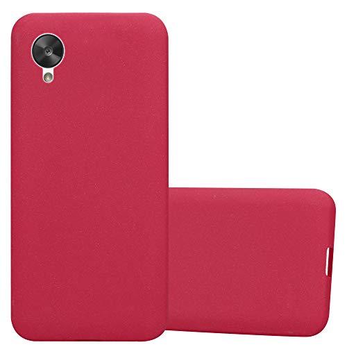 Cadorabo Funda para LG Nexus 5 en Frost Rojo - Cubierta Proteccíon de Silicona TPU Delgada e Flexible con Antichoque - Gel Case Cover Carcasa Ligera