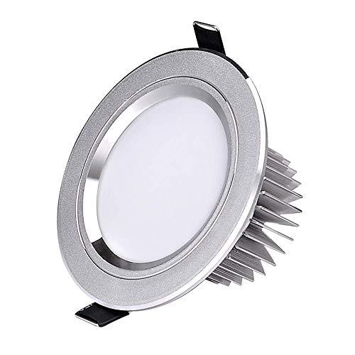 Mogicry 18W Moderne vertiefte runde geführte einfache Aluminium-Haushaltsshow eingebettete Platten-Licht-Korridor-Gang-Treppen-Wohnzimmer-Schlafzimmer-Deckenverkleidungs-Licht (3200K/6000K 155-175mm)