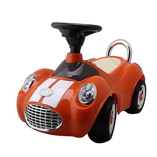 Kinder Twist Car 1-3 Jahre Alten Kinder Roller mit Musik Walker Spielzeugauto können Menschen Swinging Yo Auto sitzen FANJIANI (Color : Red)