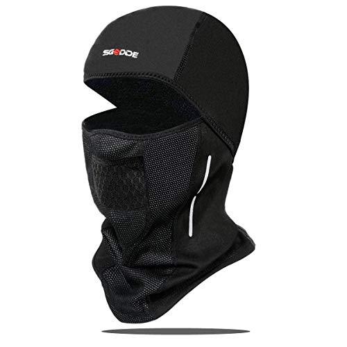 SGODDE Pasamontañas Moto Invierno, Balaclava Máscara, Mascarilla Térmica a Prueba de Viento Multifuncional para Proteger la Cara y el Cuello de Lesiones. Adecuado para Ciclismo, Moto, Hombre y Mujere.