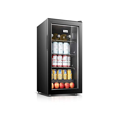 ZQ Wijnkoeler, vrijstaande single-zone-koelkast en wijnkast, kleine stille wijnkoelkast, glazen deur en thermostaatsysteem