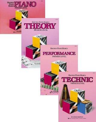 Bastien Piano Basics Set (Piano, Theory Performance, Technic, Primer, 4 Book Set)