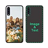 Custom Phone Case for Samsung Galaxy A50 Personalized Photo Phone Cases Customized Gift for Birthday Xmas Valentines Friends Her Him, Uartify Protective Galaxy A50 Black Case