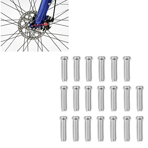 IUwnHceE 20 Pcs Terminación De Cable Encrespaduras Bicicletas Cable Tapas Terminales Bicicletas...