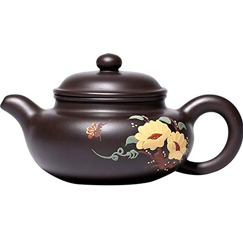 STZSHION Clay Schilderij Antiek Keramiek Tea Set Reizen Theepot Zi Sha Theepot Eettafel Thee Set Mooie Verpakking, 225cc (Size : 225cc)