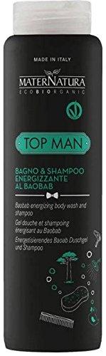 MaterNatura TOP MAN 2in1 Belebendes Duschgel & Shampoo mit Baobab - Ideal zur täglichen - Anwendung Praktisch & vielseitig - Mit würzigem Duft Vegan - 250 ml
