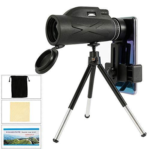 HD Monokular Teleskop, 80 * 100 Fernrohr Teleskop mit Stativ & Smartphone Adapter, Tragbar Teleskop für Vogelbeobachtung, Jagd, Wandern Sightseeing, Konzert Ballspiel