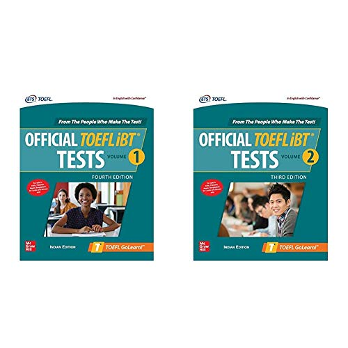 McGraw Hill's TOEFL Combo - Official TOEFL® iBT Test Volume 1 & 2 (Latest Editions, Set Of 2 Books)