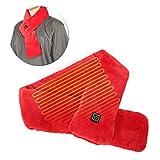 Ufolet Bufanda calefactora, Abrigo cálido para el Cuello con Control de Temperatura de 3 Niveles Recargable, Senderismo USB para Escalar(Red, Pisa Leaning Tower Type)