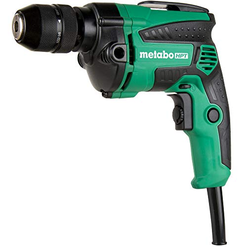Metabo HPT D10VH2 7-Amp 3/8-Inch Corded Drill, Metal Keyless Chuck, 0-2700 RPM, Variable Speed w/Dial, Rubber Over-Molded Handle, Forward/Reverse, Belt Hook, 5-Year Warranty