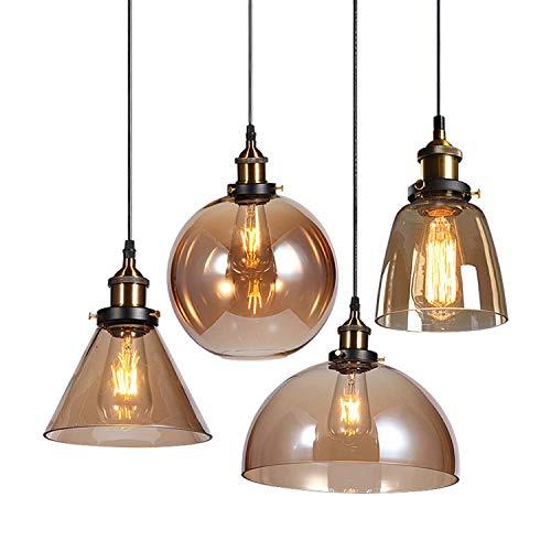 Lampadario industriale a 3 luci, lampade a sospensione rustiche vintage, isola da cucina, plafoniera con paralume in vetro, lampade da toeletta da bagno, lampade a sospensione (J)