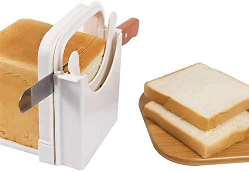 Rebanador de pan tostado práctico y útil para el hogar, pan de mano plegable y ajustable, cortador de bagels para ajustar el grosor del pan, cortador de pan casero Aparatos de cocina
