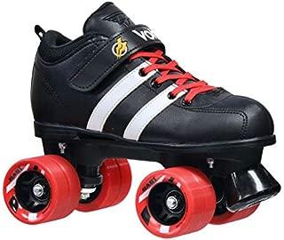 Riedell Custom Red Volt Quad Derby Speed Roller Skates w/Dart Wheels & Laces