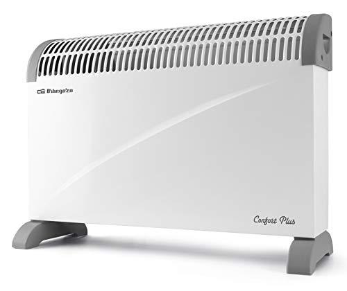Orbegozo CV 4000 A Convector, 3 niveles de potencia, protección contra sobrecalentamiento, termostato regulable, asas de transporte, 2000 W, Blanco