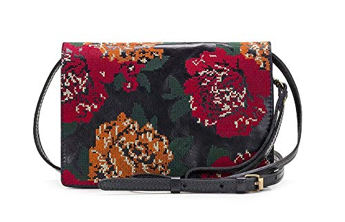 Patricia Nash Women's Lanza Fall Tapestry Cross Stitch Crossbody Bag, Navy