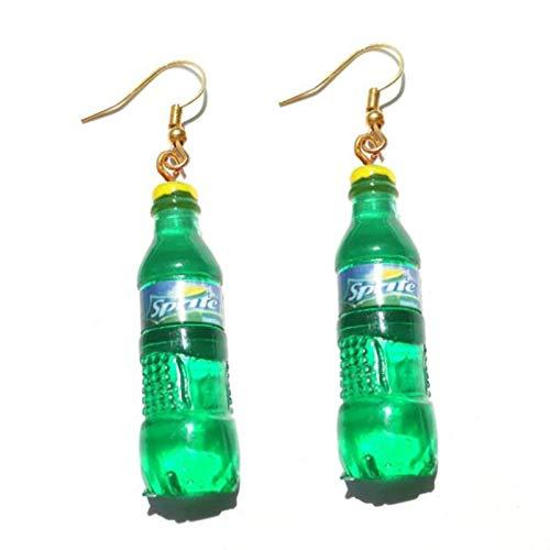 ZSCZQ 30 Stil süße Flasche Ohrringe Mädchen Frauen baumeln Schmuck Geschenk schöne Cola Bier Rotwein Neue interessante Mode 12