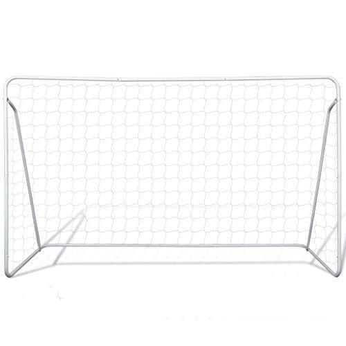 SOULONG Jugendfußball Ball Fußballtornetz Wetterfeste lackierter Stahlrahmen 240 x 90 x 150 cm (B x T x H)