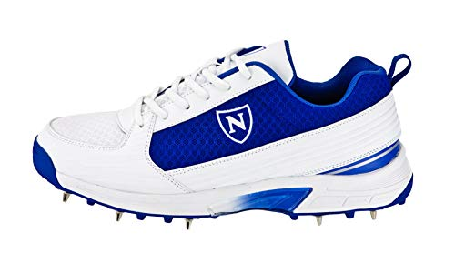 Newbery Cricket Unisex Performance Cricketschuhe, weiß/blau, 43